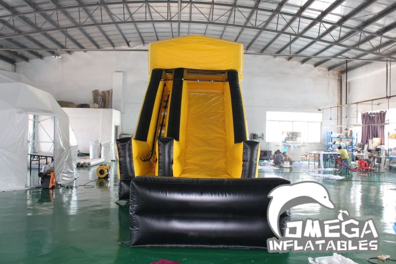 18FT Black and Gold Modular Wet Dry Slide