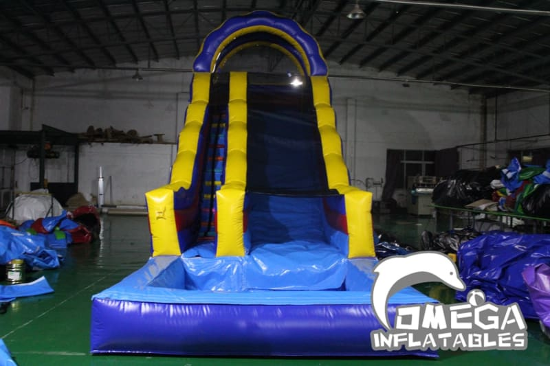 18FT Blue Archway Water Slide