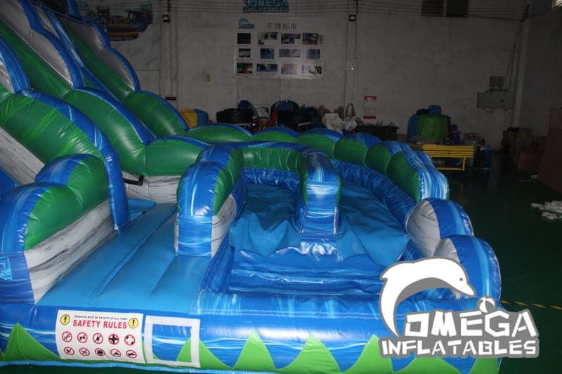 18FT Blue Crush Curvy Water Slide