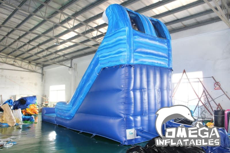 18FT Blue Marble Wave Water Slide