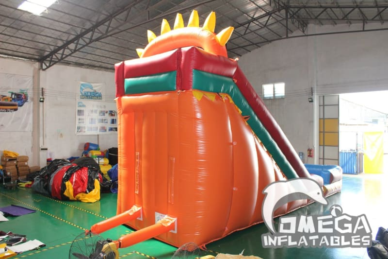 18FT Dino Fun Wet Dry Slide