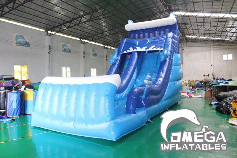 18FT Dolphin Water Slide - Omega Inflatables Factory