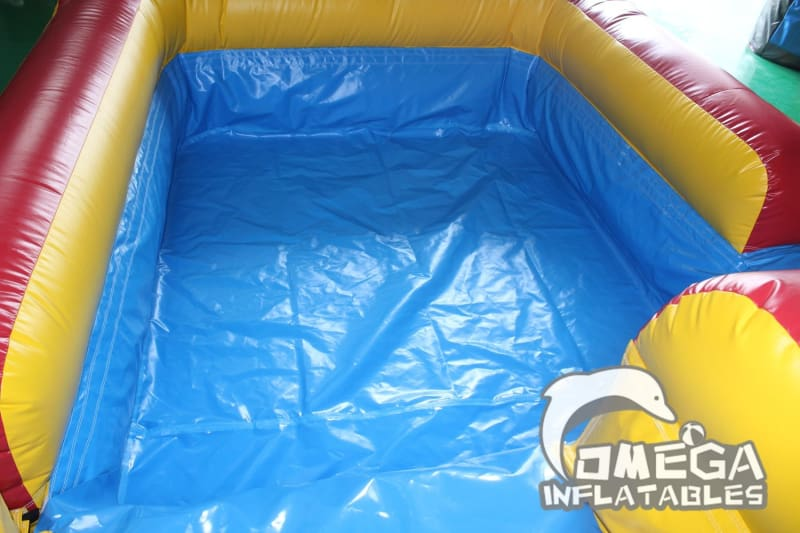 18FT Drop Falls Wet Dry Slide - Omega Inflatables Factory