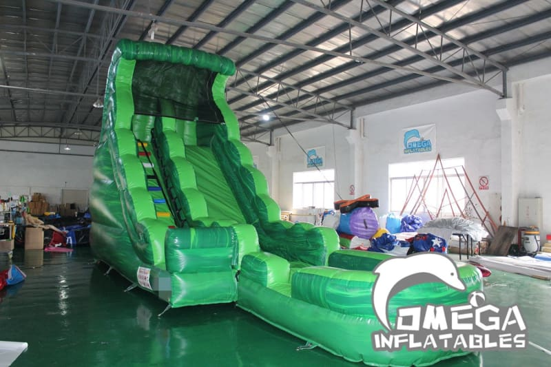 18FT Green Marble Wet Dry Slide