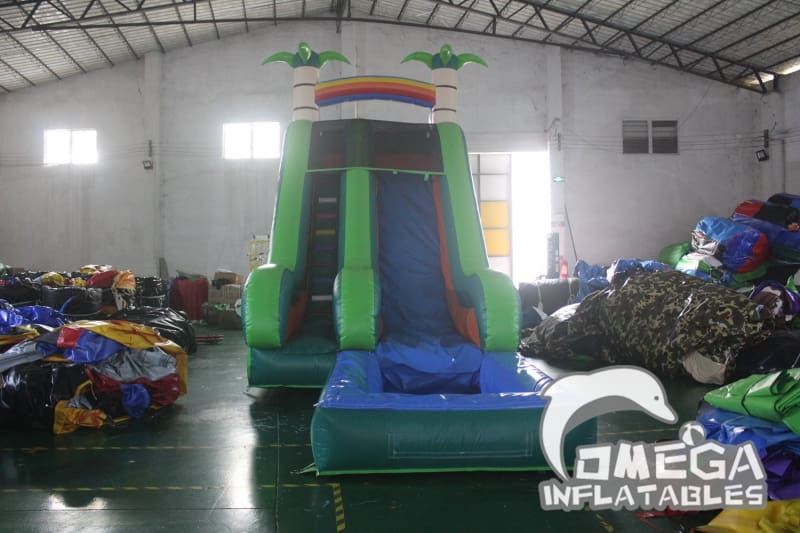 18FT Inflatable Tropical Water Slide