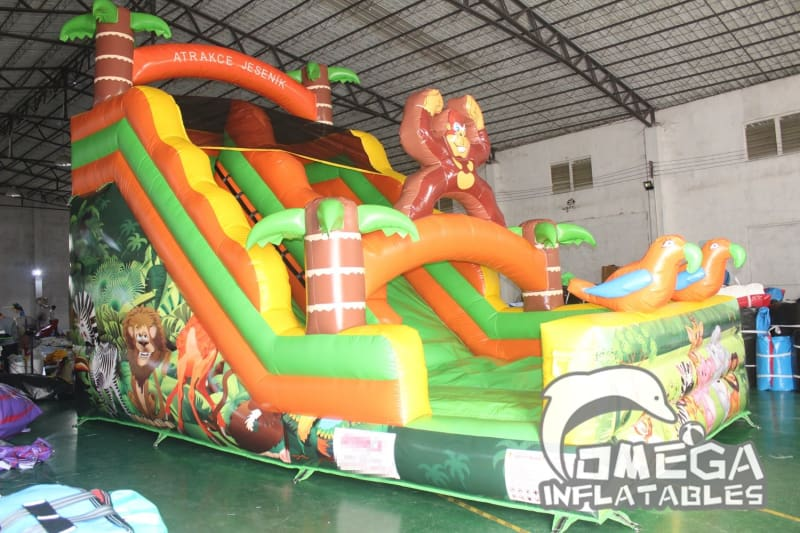 18FT Jungle Safari Inflatable Slide