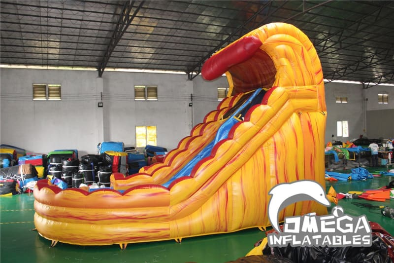 18FT Monster Wave Fire Inflatable Water Slide