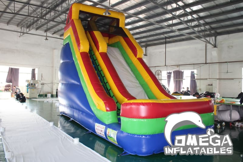 18FT Ninja Rainbow Dry Slide