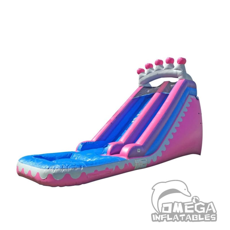18FT Princess Tiara Super Wet Dry Slide
