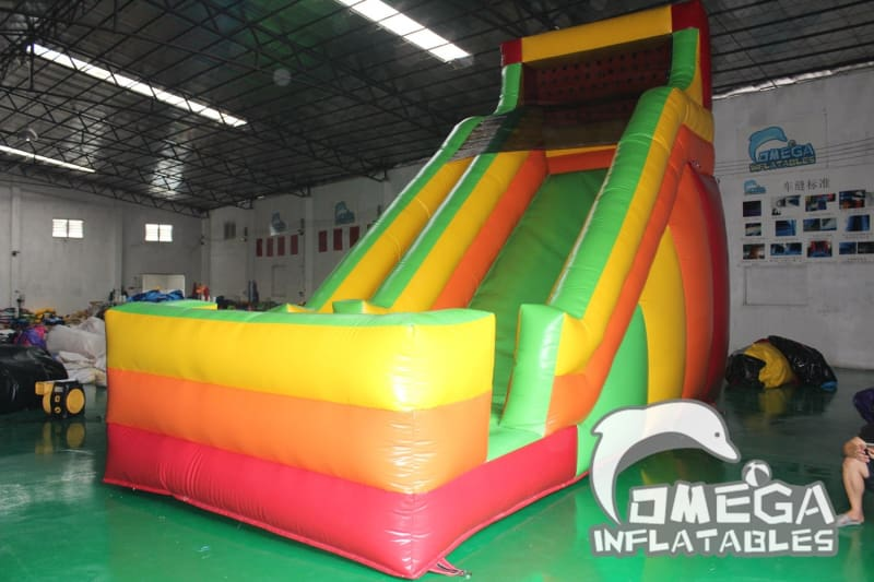 18FT Rainbow Colorful Dry Slide