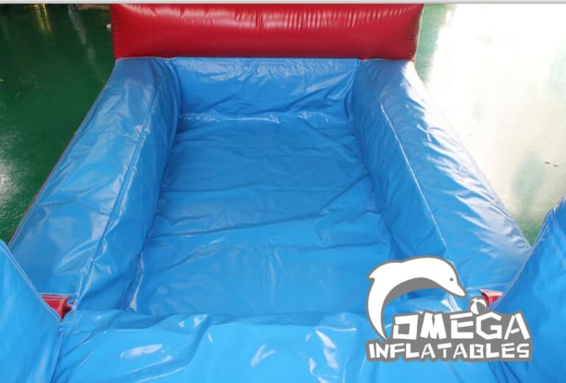18FT Red and Blue Modular Wet Dry Slide