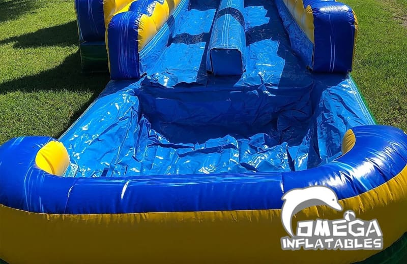 18FT Tiki Shot Dual Lane Water Slide