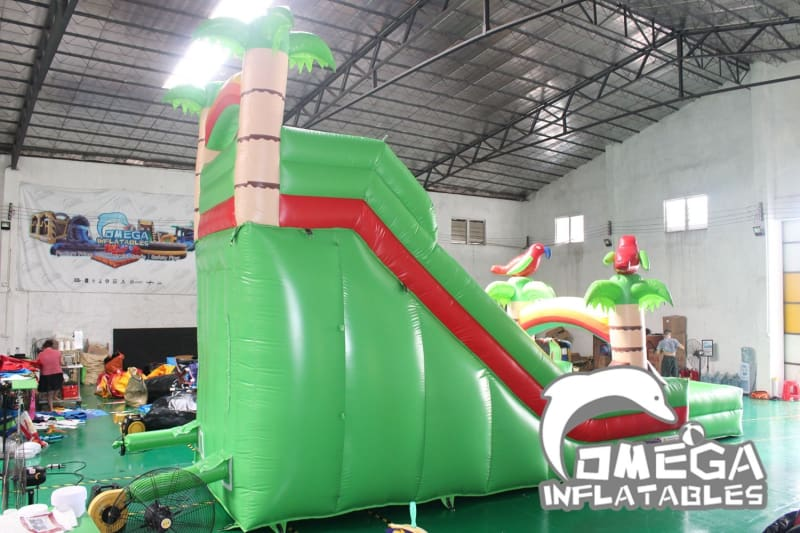 18FT Tropical Rain Forest Wet Dry Slide - Omega Inflatables Factory