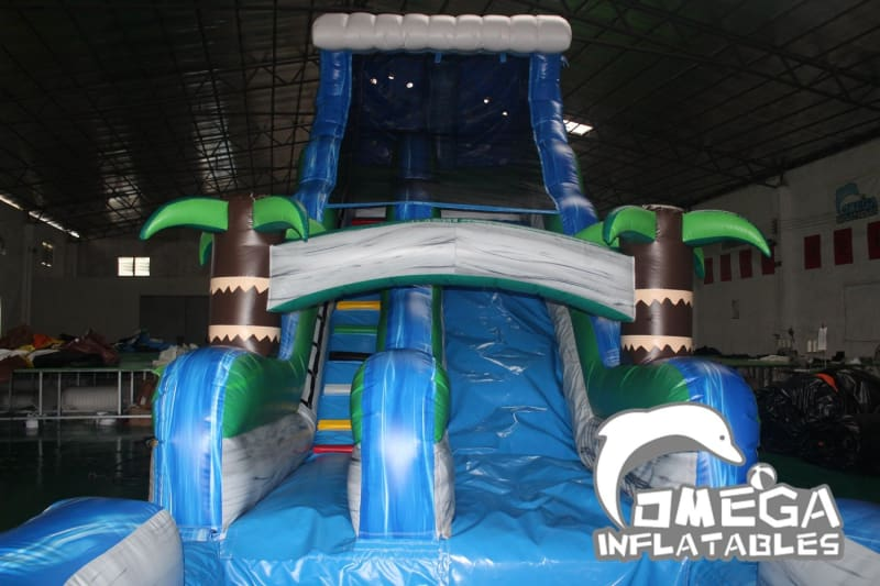 18FT Tropical Rush Wet Dry Slide - Omega Inflatables Factory