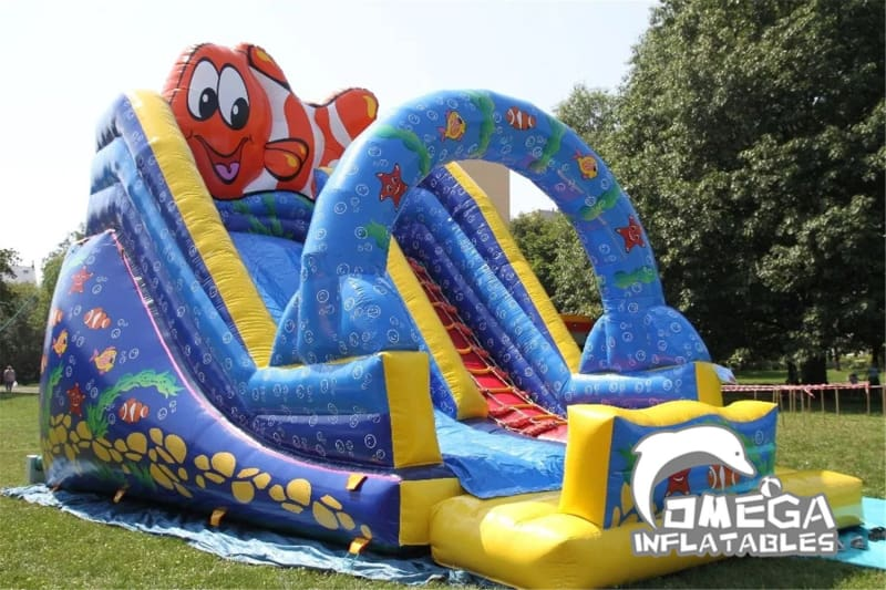 18FT Under The Sea Inflatables Dry Slide