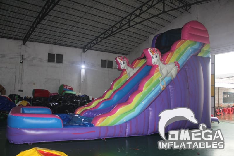 18FT Unicorn Wet Dry Slide