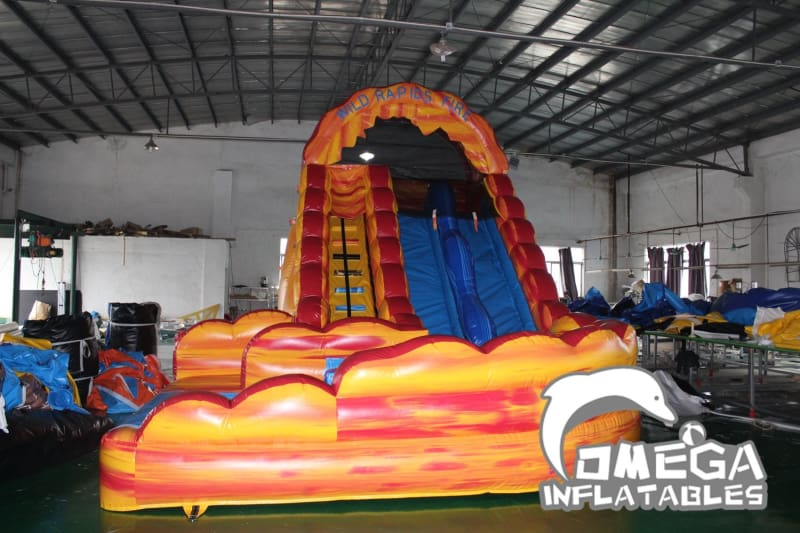 18FT Wild Rapids Fire Inflatable Water Slide