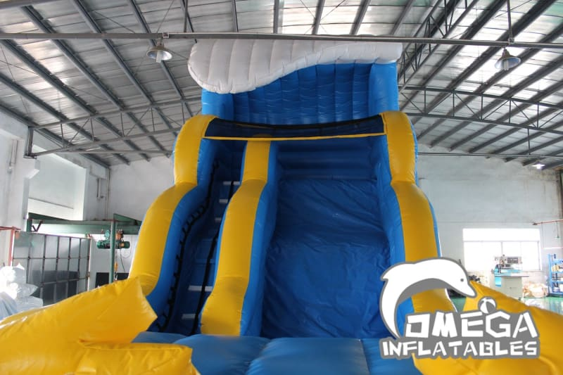 19FT Wave Wipe Out Water Slide
