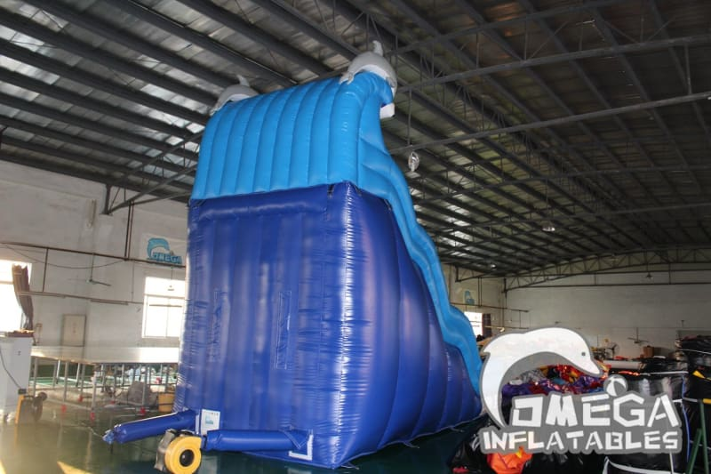 20FT Dolphin Wet Dry Slide - Omega Inflatables Factory