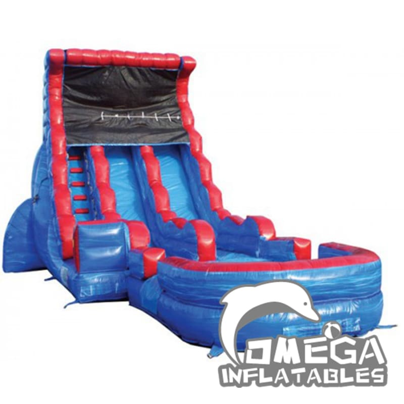 20FT Double Lane Tsunami Wet Dry Slide
