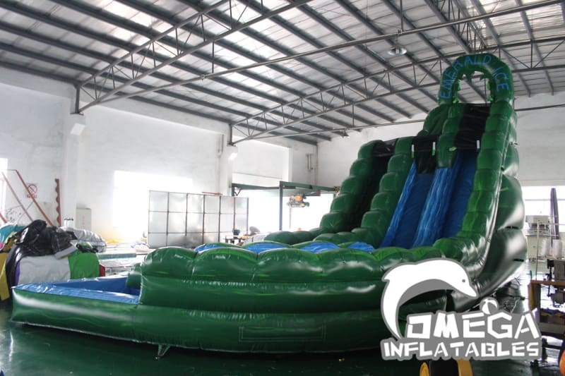 20FT Emerald Ice Inflatable Water Slide