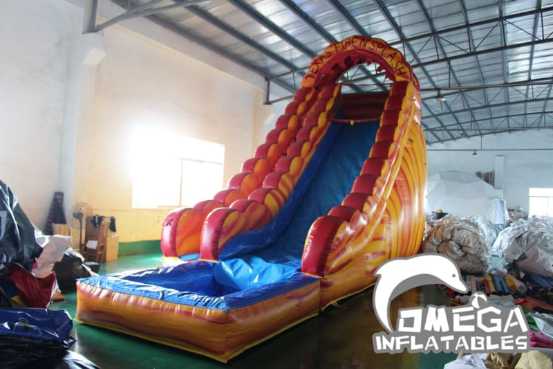 20FT Fire N Splash Wet Dry Slide