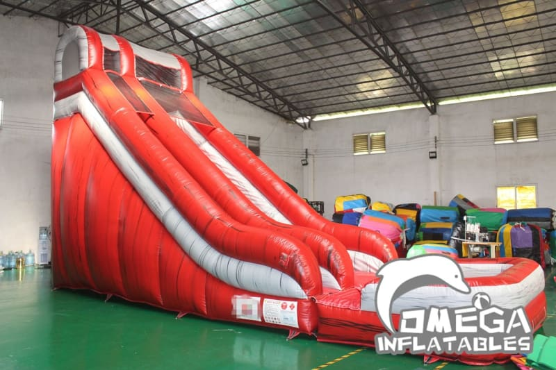 20FT Marble Red Water Slide