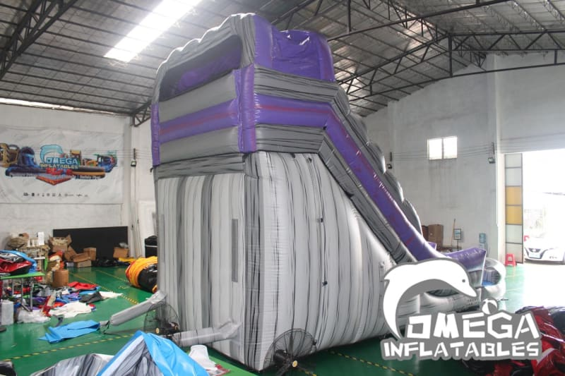 20FT Purple Rock Dual Lane Water Slide