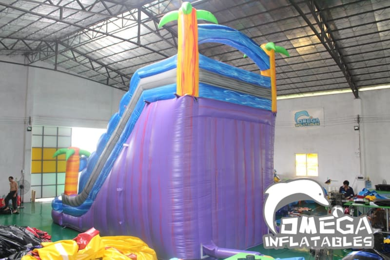 20FT Purple Tropical Water Slide
