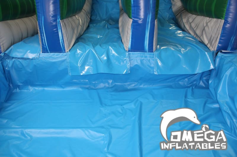 20FT Tropical Dual Lane Water Slide