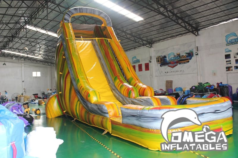 22FT Marble Rainbow Water Slide