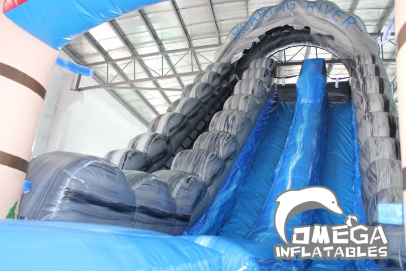 22FT Roaring River Rainbow Tropical Water Slide