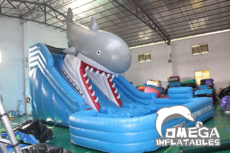 22FT Shark Water Slide