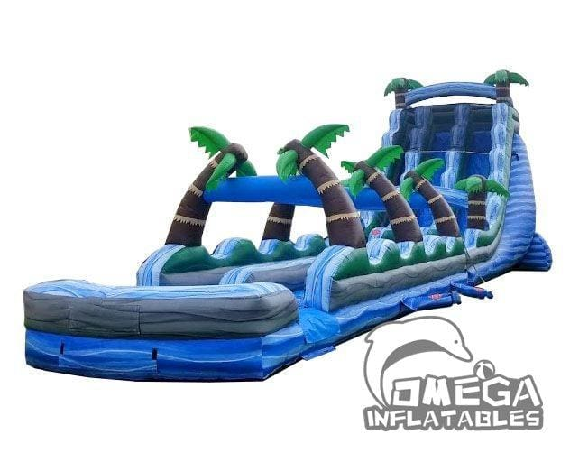 22FT Tropical Marble Dual Lane Inflatable Slide