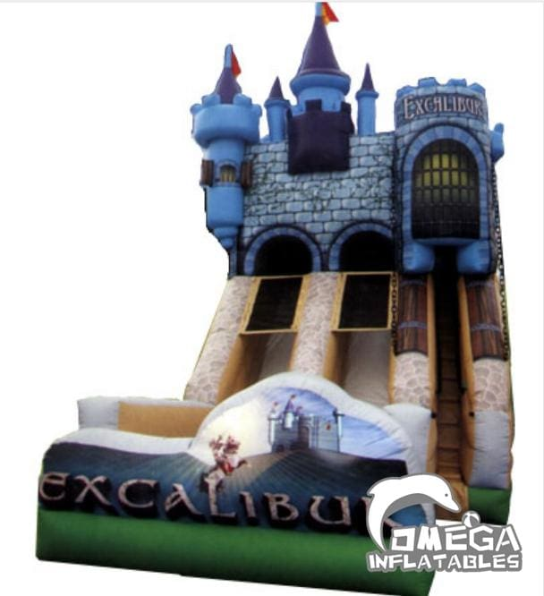 25FT Dual Lane Excalibur Slide