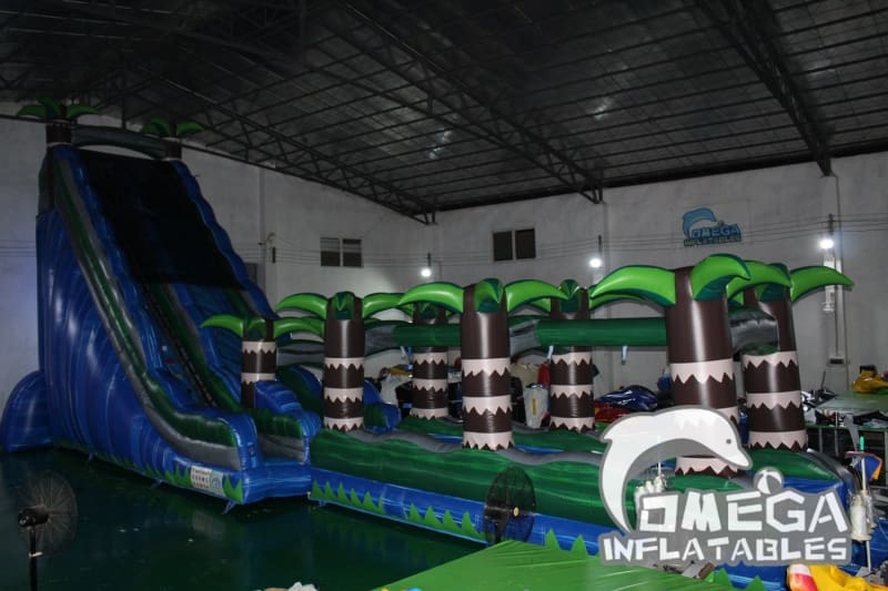 25FT Tropical Rush Splash Water Slide