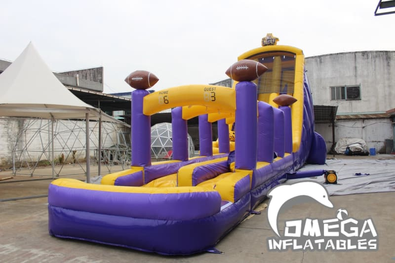 27FT LSU Tigers Themed Water Slide - Omega Inflatables Factory