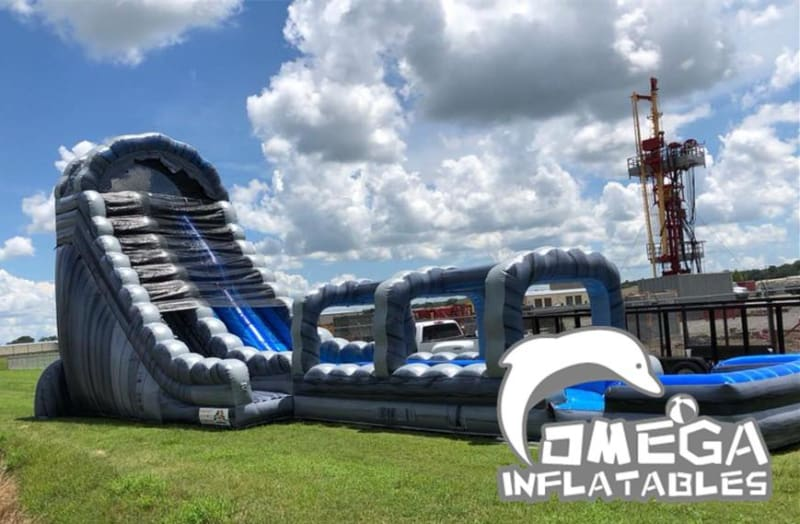 27FT Roaring River Dual Lanes Water Slide