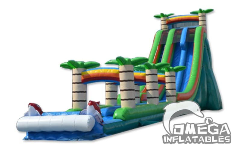 27FT Tropical Plunge Water Slide