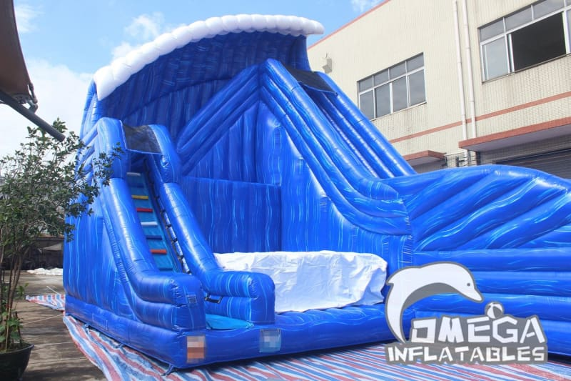 30FT Inflatable Cliff Jump with Slide