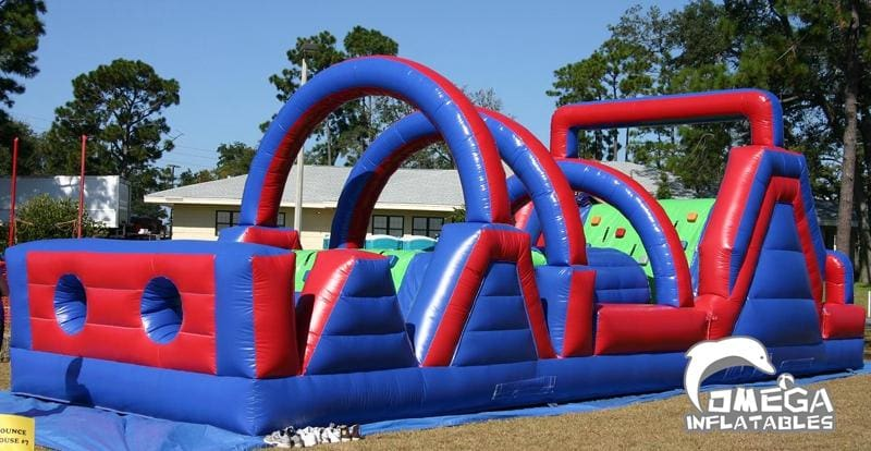 50FT Blue Red Obstacle Course