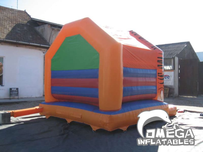 A Frame Tiger Head Bouncy Castle