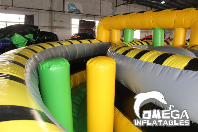 Atomic Rush Inflatable Obstacle Course Connection - Omega Inflatables Factory