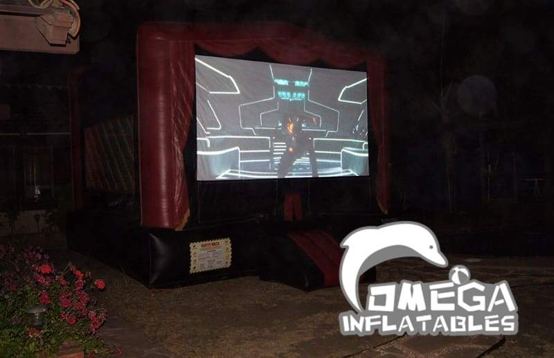 Bounce House with Movie Screen
