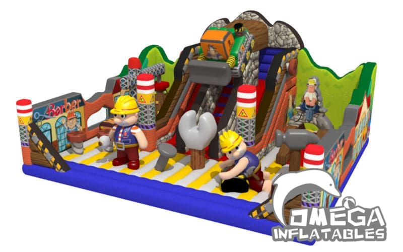 Building Themed Inflatable Fun City