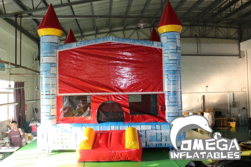 Camelot Castle Blue Bounce House 2