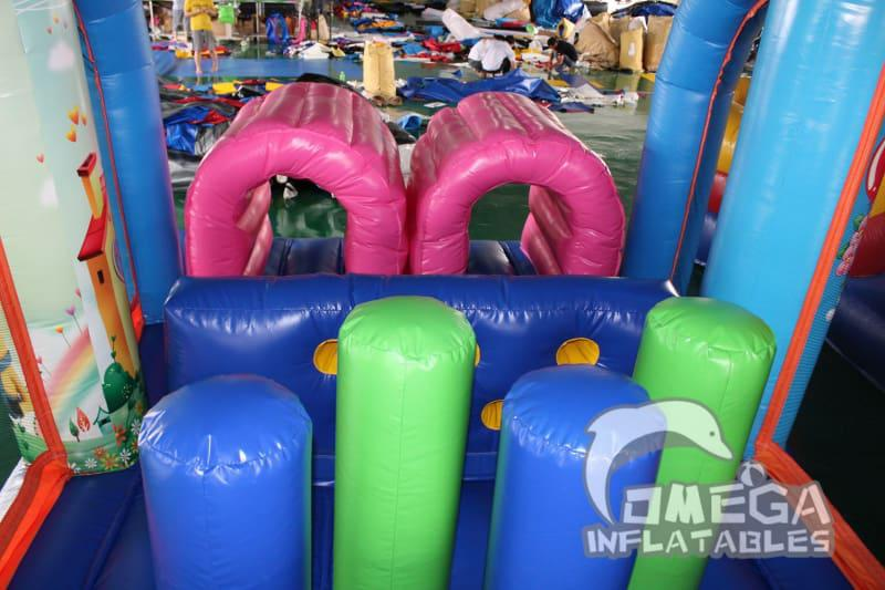 Cartoon Characters Inflatable Obstacle Course