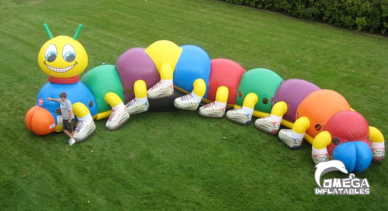 Caterpillar Inflatable Obstacle Course - Omega Inflatables
