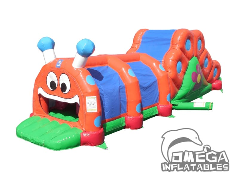 Caterpillar Obstacle Course with Slide