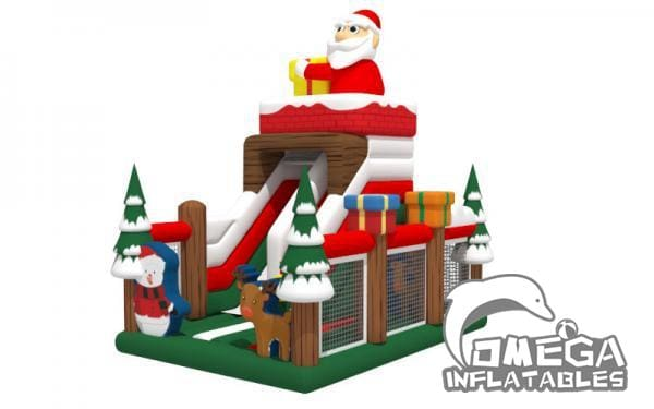 Christmas Santa Tree Slide